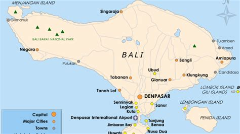 bali map  attractions bali indonesia holiday