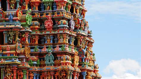 de cuisine indienne temple de mînâkshî en inde des couleurs incroyables