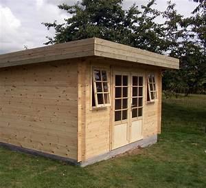 Chalet Bois Toit Plat : abris jardin toit plat moderne chalets bois qualit sur mesure decochalet ~ Melissatoandfro.com Idées de Décoration