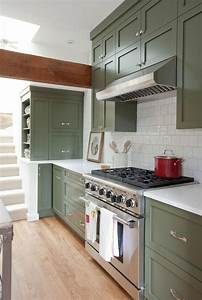 Green kitchen cabinets centsational girl for Best brand of paint for kitchen cabinets with naked wall art