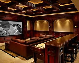 Marvellous irish pub decorating ideas with vintage and for Home theater bar furniture