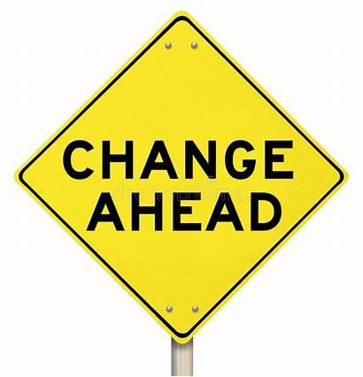 Ahead Change Sign Warning Yellow Isolated Drive