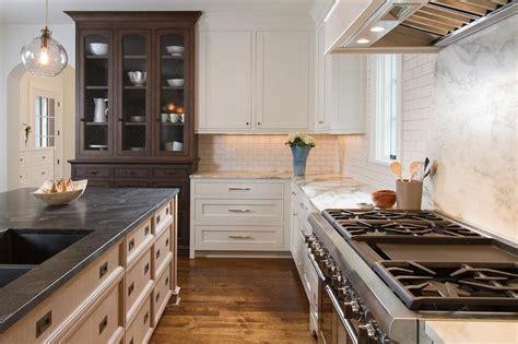 honed jet mist granite countertops transitional kitchen sherwin williams elder white