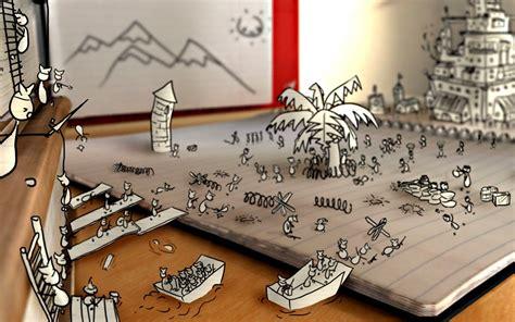sketches notebooks digital art creativity war paper