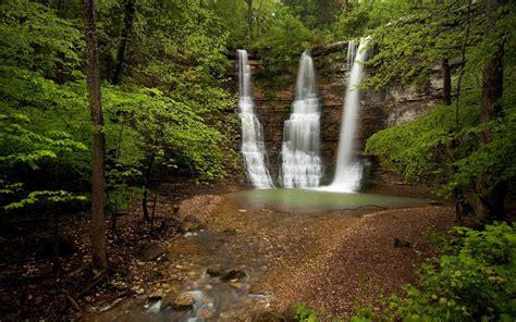 nature forests usa waterfalls arkansas triple falls