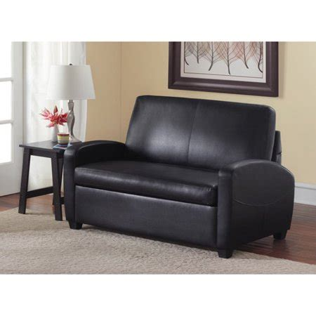 Mainstays Sleeper Sofa by Mainstays Sofa Sleeper Black Walmart