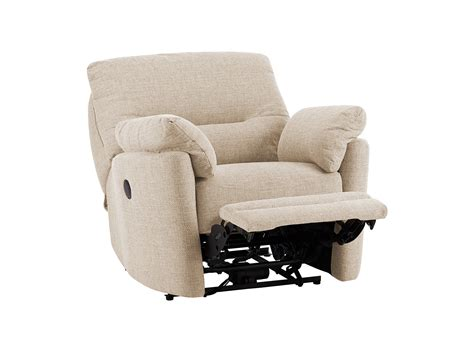 Sutton Armchair With Electric Recliner In Barley Beige