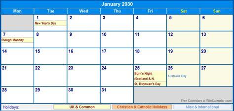 january  uk calendar  holidays  printing image