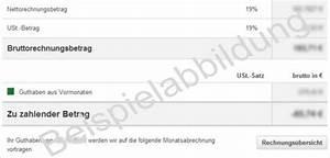 Rechnung Vodafone : zu zahlender betrag oder guthaben auf der mobilfunk rechnung ~ Themetempest.com Abrechnung