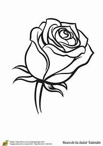 Dessin Saint Valentin : coloriage adorable rose saint valentin fermee sur ~ Melissatoandfro.com Idées de Décoration