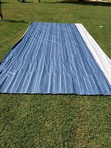 ae dometic rv camper awning replacement fabric  ft sunchaser blue  ebay