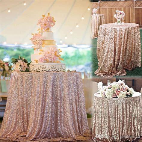 Hot Cheap Rose Gold Bling Bling Sequins Wedding