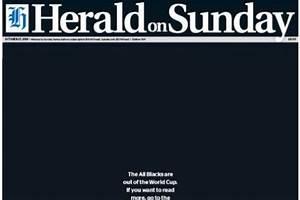 New, Zealand, National, Newspaper, Prints, Blank, Black, Front