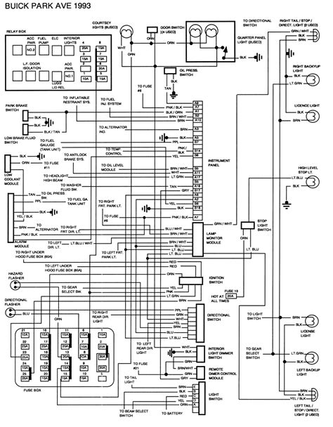 2001 Buick Park Avenue Wiring Diagram by Repair Guides Wiring Diagrams Wiring Diagrams