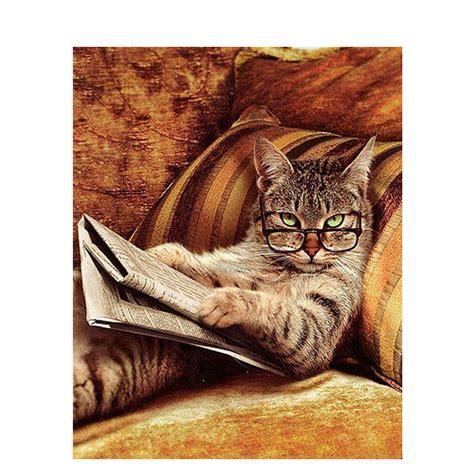 malen nach zahlen zeitung lesende katze malen nach