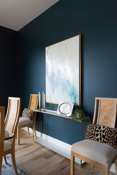 top 3 blue green paint colors for dark and dramatic walls
