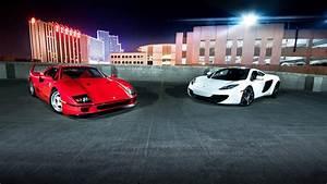 Ferrari f40 mclaren car hypercars cars white red wallpaper