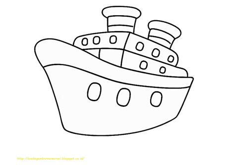 20 gambar mewarnai kapal laut untuk anak paud dan tk