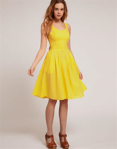 Yellow Summer Dresses - Oasis amor Fashion