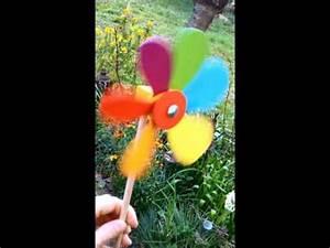 Moulin A Vent Enfant : omocha moulin vent fleur en bois youtube ~ Melissatoandfro.com Idées de Décoration