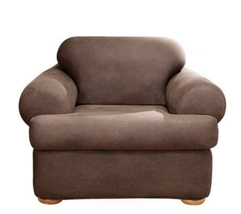 sure fit stretch faux leather t cushion chair slipcover