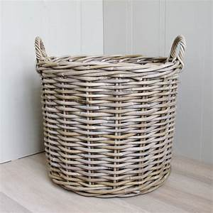2, Round, Rattan, Baskets, Log, Laundry