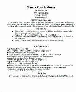 foreign language teacher resume template best design With how to write language skills in resume