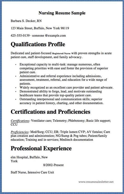 nursing resume sample barbara  decker rn  main