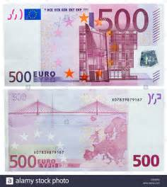 500 Euro Front and Back