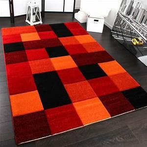 Teppich Rot Schwarz : designer teppich mit kontoruenschnitt rot teppichcenter24 ~ Eleganceandgraceweddings.com Haus und Dekorationen