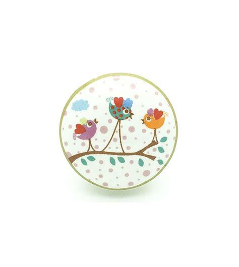 bouton de tiroir enfant bouton de meuble enchant 233 petits oiseaux en porcelaine boutons mandarine