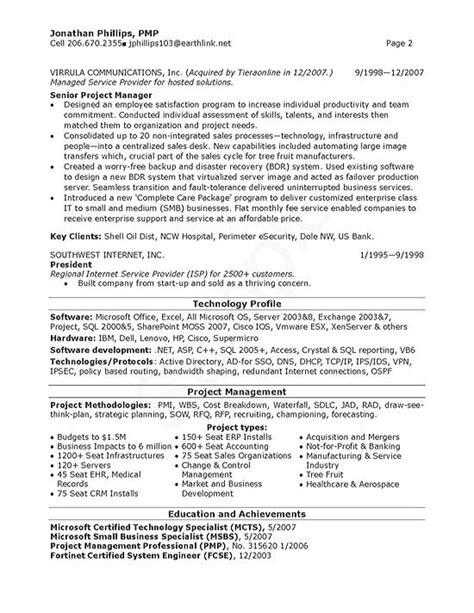 senior  manager resume