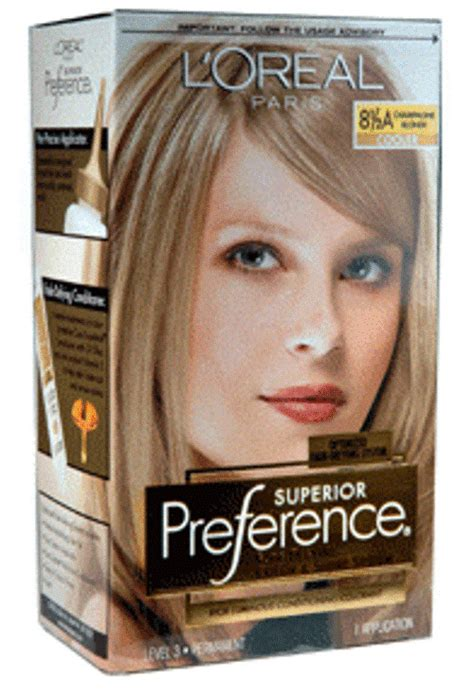 loreal preference hair color  champagne blonde