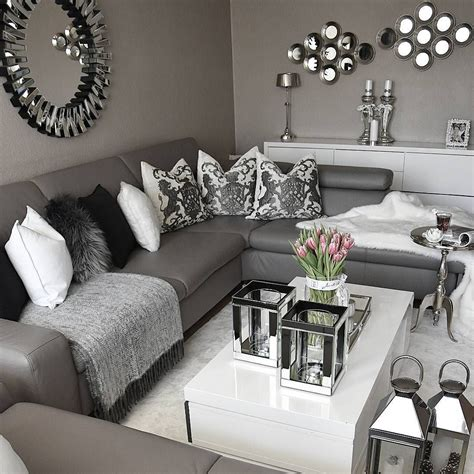 Elegant Grey And White Living Room Incredible Homes