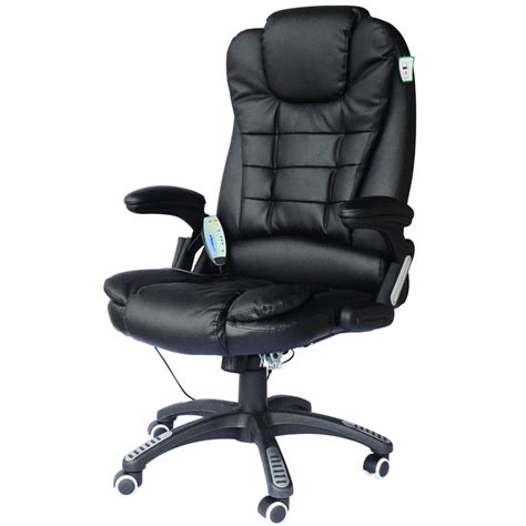 fauteuil bureaux fauteuil de bureau cuir noir massant et chauffant ebay