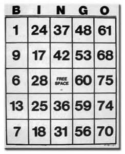 Printable Jumbo Bingo Cards