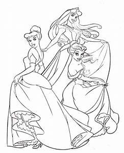 Dibujos De Princesas Disney Para Colorear E Imprimir Gratis Para Colorear Pinterest