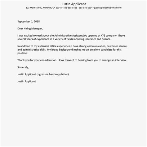 Cover Letter For An Administrator by 23 Exles Of Cover Letters For Exles Of Cover