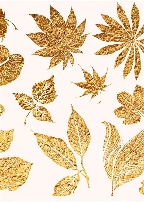gold leaf design gold leaves