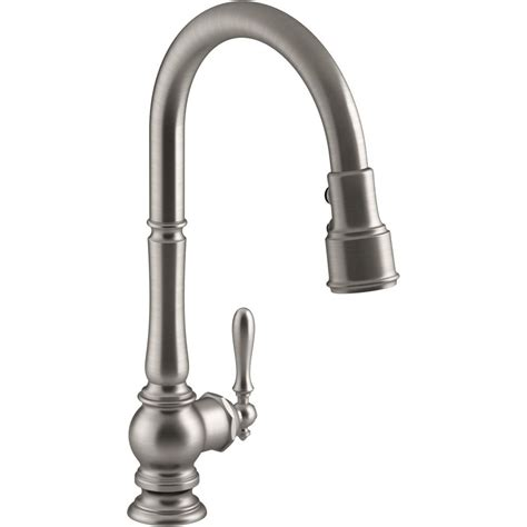 kohler k 99259 vs artifacts vibrant stainless steel pullout spray kitchen faucets efaucets com