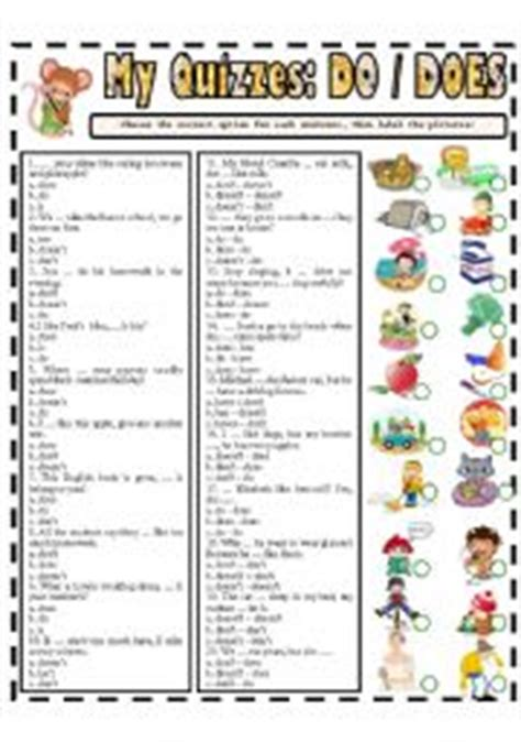 English Exercises Auxiliaries Be, Have, Do
