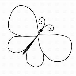 Simple Butterfly Outline Clipart
