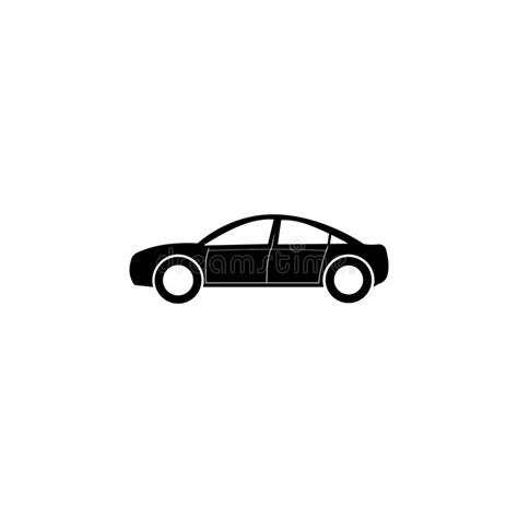 Sedan Car Icon. Car Type Simple Icon. Transport Element