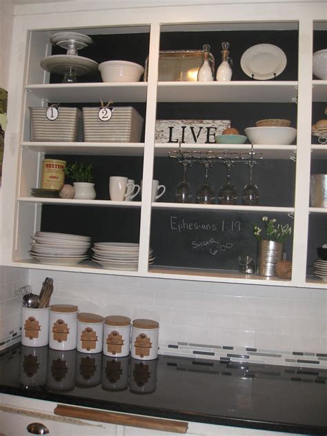 diy chalkboard cabinets creatively living   box