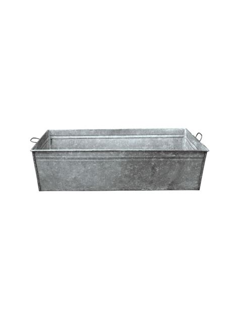 Rectangle Galvanized Tub by Vintage Rectangle Galvanized Tub Vintage