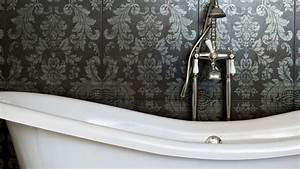 Uhr Für Badezimmer : neuer look tapete f r das badezimmer ~ Orissabook.com Haus und Dekorationen