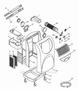 Delonghi Pac10 Parts List And Diagram   Ereplacementparts Com