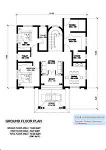 villa home plans kerala model villa plan with elevation 2061 sq kerala home design and floor plans