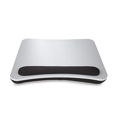 portable lap desk bed bath and beyond portable lap desk with wrist pad in silver black www
