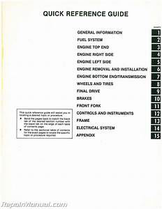 1983 Kawasaki Klt200 Atc Three Wheeler Service Manual